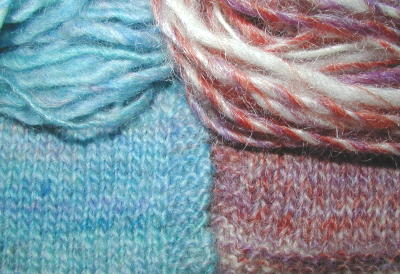 Close up of low-twist yarns